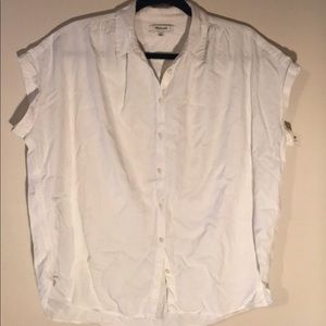 Madewell White Button Down Blouse